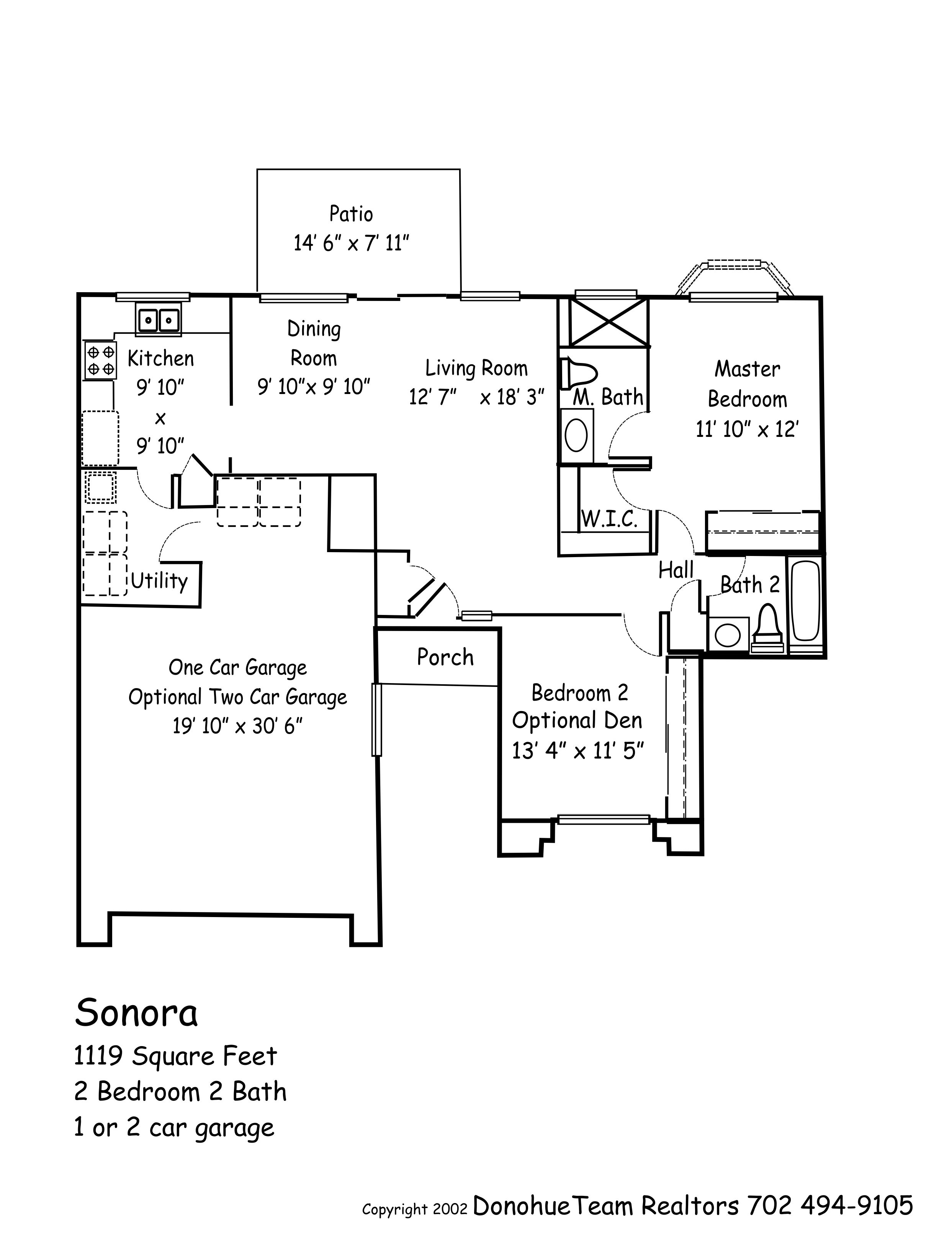 Sonora Floor Plan